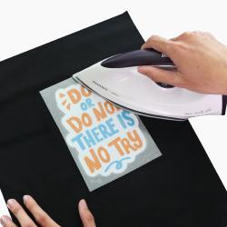 in sticker ủi lên vải