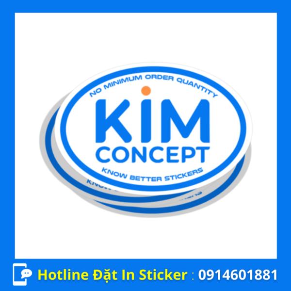 in sticker hình oval