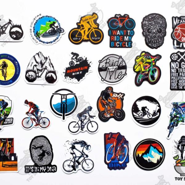 in sticker dán xe đạp